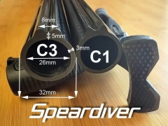 Carbon Speargun Tube With Track C3
